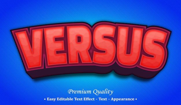 Versus  editable text style effect Premium Vector