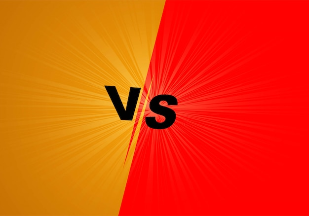Versus fight screen background orange and red Free Vector
