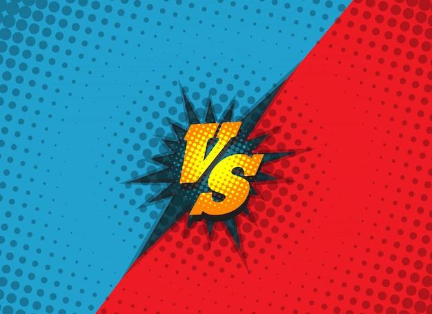 Versus fighting background concept Premium Vector