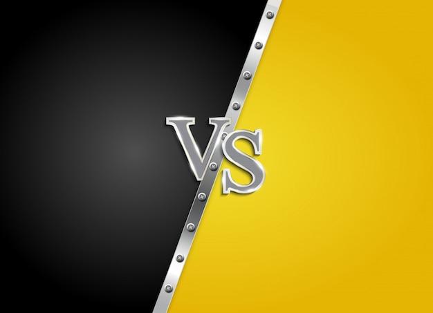 Versus letters figh background Premium Vector