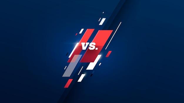 Versus logo против букв для спортивных состязаний и соревнований по борьбе. векторная иллюстрация Premium векторы