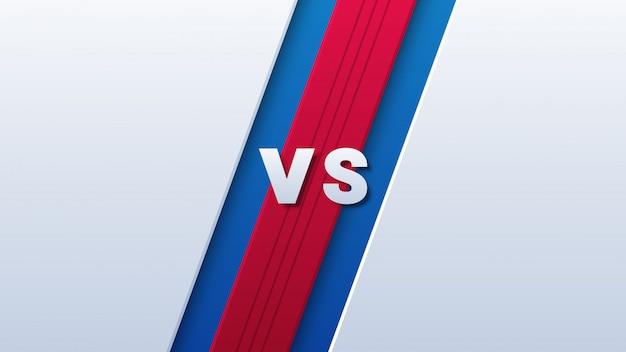Versus logo для спорта на красном и синем фоне Premium векторы