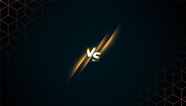 Versus vs batter screen game sports background Free Vector