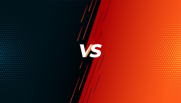 Versus vs fight battle screen background Free Vector