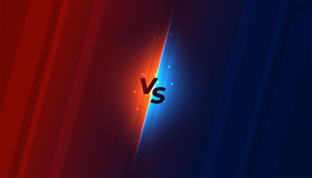 Versus vs screen background in shiny style design Free Vector
