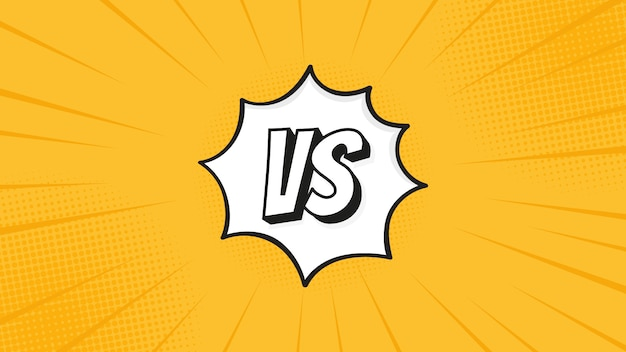 Versus Vs Sign Isolated On Fight Backgrounds In Flat Comics Style