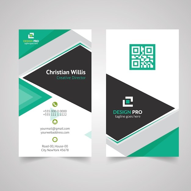 Vertical business card design vector premium download vertical business card design premium vector reheart Gallery