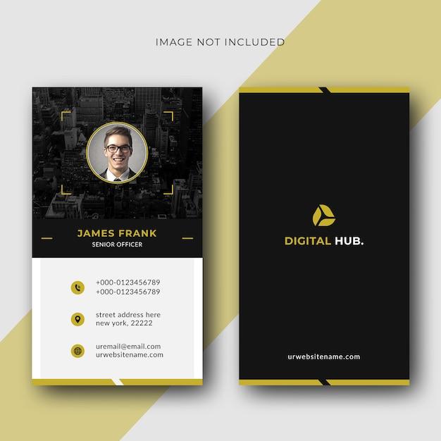 Vertical business card Premium Vector