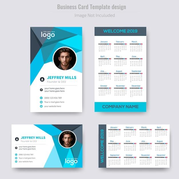 Vertical Calendar Business Card Design Vector Premium Download