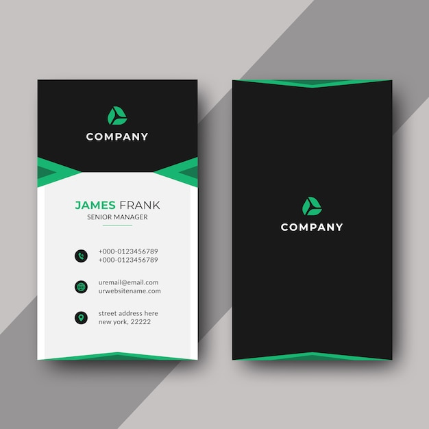 Vertical elegant business card template Premium Vector