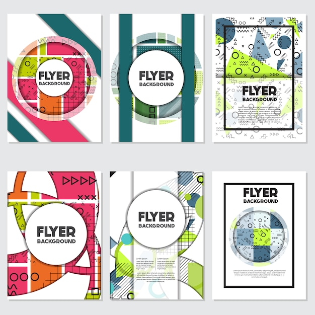 vertical flyer design vector free download