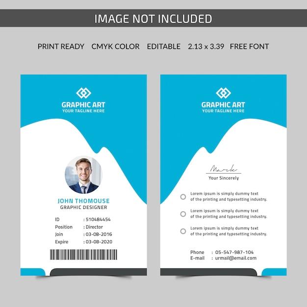 Premium Vector Vertical Id Card Template