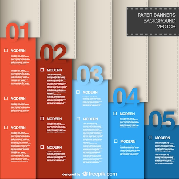 graphic designer portfolio template free download - vertical infographic in blue and red tones vector free