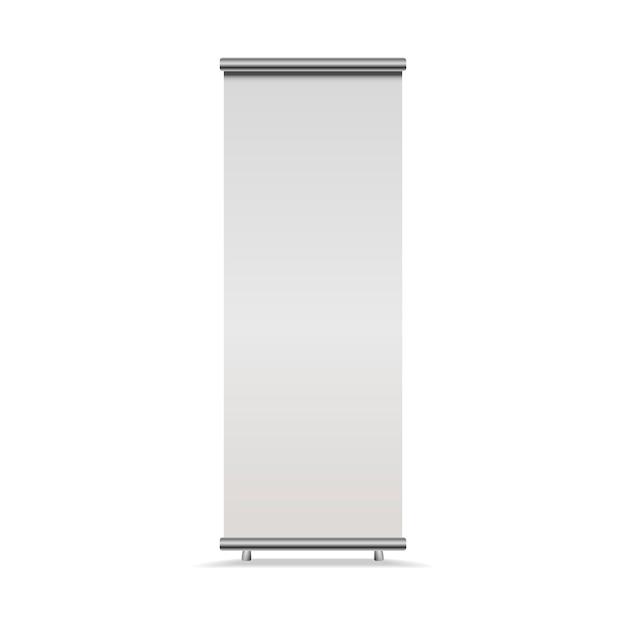 Vertical roll-up banner Premium Vector