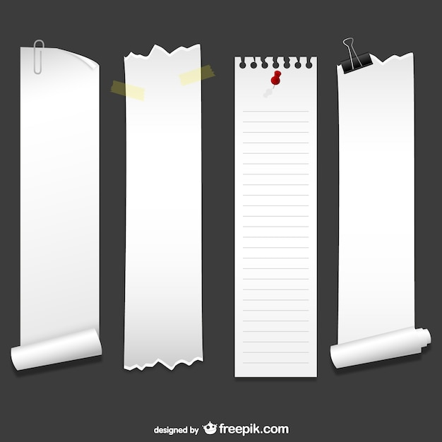 Vertical sheets of paper Vector | Free Download