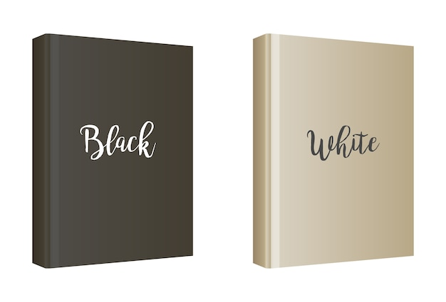 Vertical white book cover template Free Vector