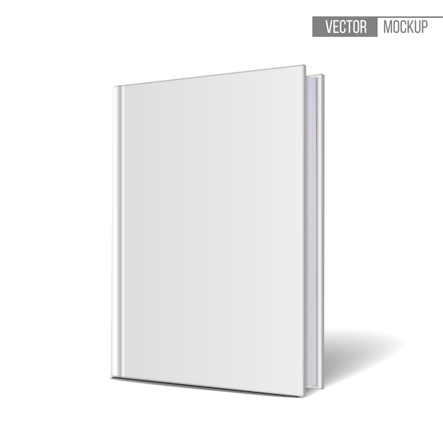 Vertically standing template books on a white background.  illustration. Premium Vector