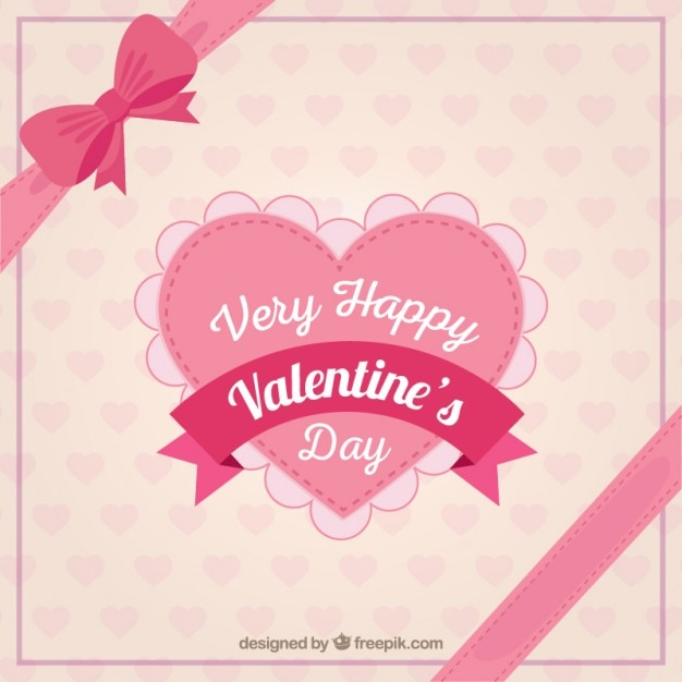 Very happy valentine day heart Vector | Free Download