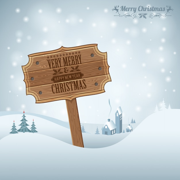 Very merry christmas and happy new year greeting card Premium Vector