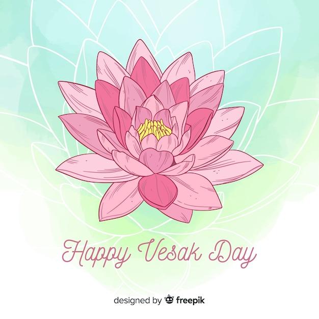 Vesak day Free Vector