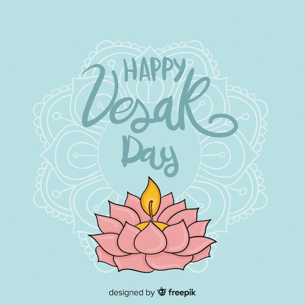 Vesak day Free Vector