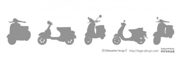 Vespa motorbike Free Vector