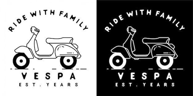 Vespa scooter design Premium Vector