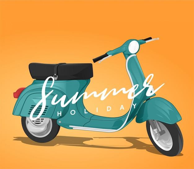 Vespa summer holiday Premium Vector