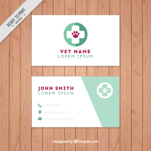 Vet Business Card Free Vector