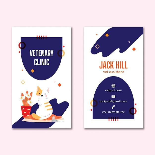 Volantino per clinica veterinaria Vettore gratuito