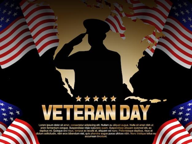 Veteran day illustration Premium Vector