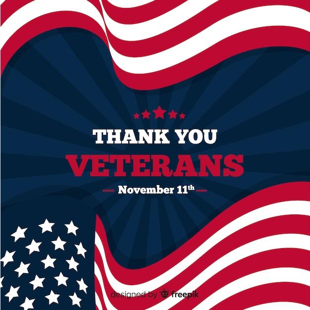 Veteran's day banner Free Vector