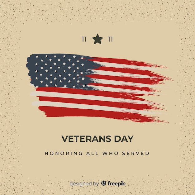 Veterans day background Free Vector