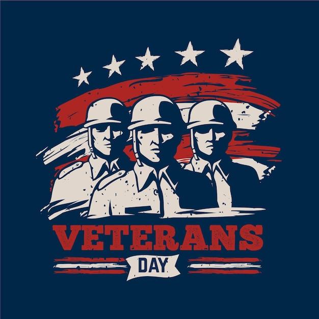 Concetto di giorno dei veterani Vettore gratuito