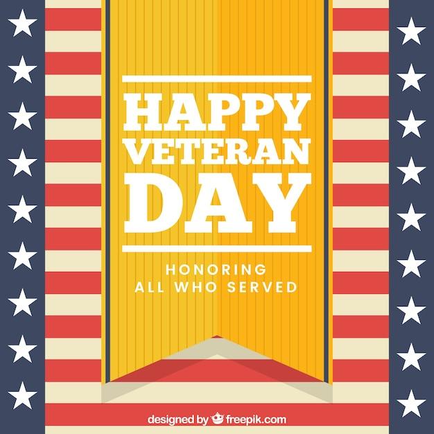 Veterans day design in retro style