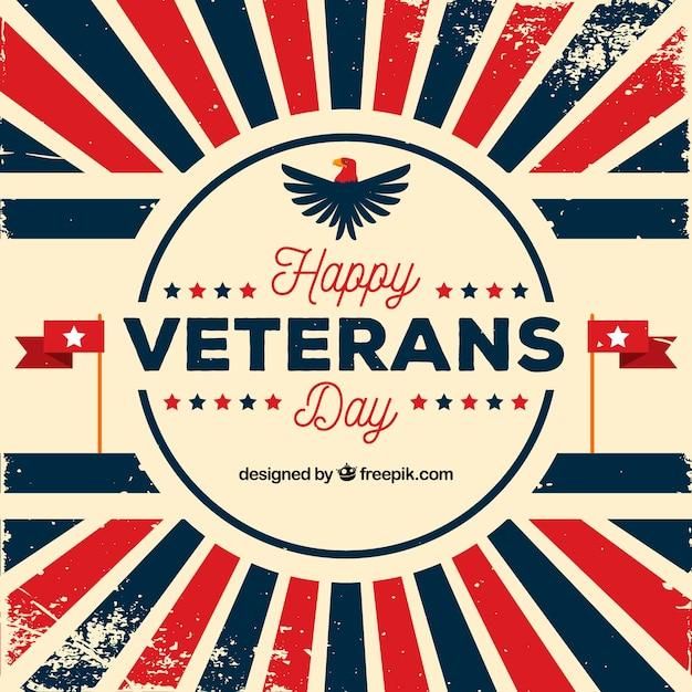 Veterans day sunburst background Free Vector