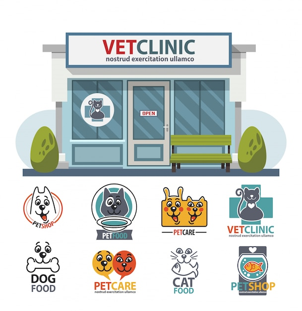 Veterinary medicine hospital Premium Vector