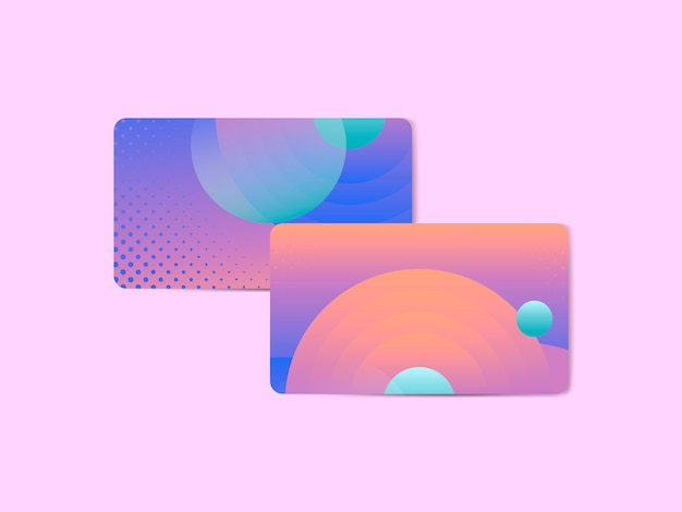 Vibrant abstract design business card Free Vector