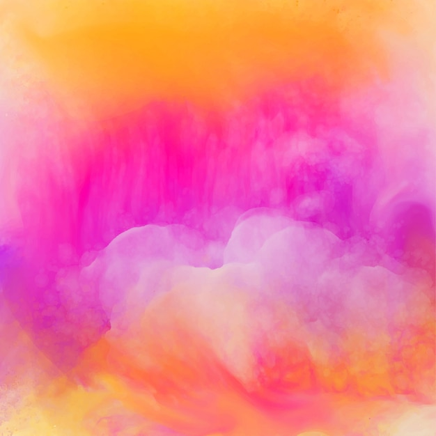 Vibrant bright watercolor texture background Vector | Free
