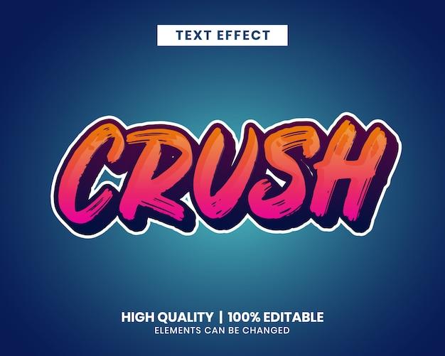 Vibrant color brush stroke editable text effect Premium Vector