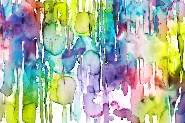Vibrant colorful hand painted background Free Vector