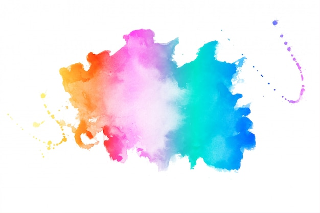 Vibrant colors watercolor stain texture background Free Vector