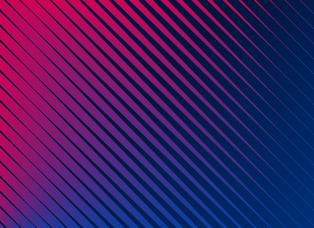 Vibrant diagonal lines pattern background Free Vector