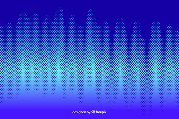 Vibrant halftone effect background Free Vector