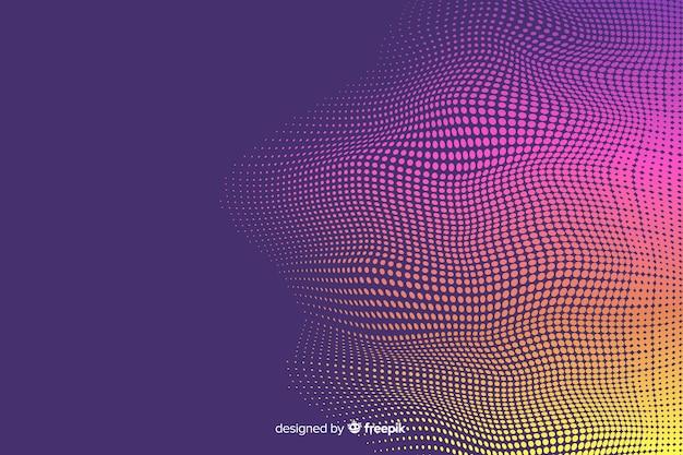 Яркий полутоновый эффект градиентного фона Бесплатные векторы