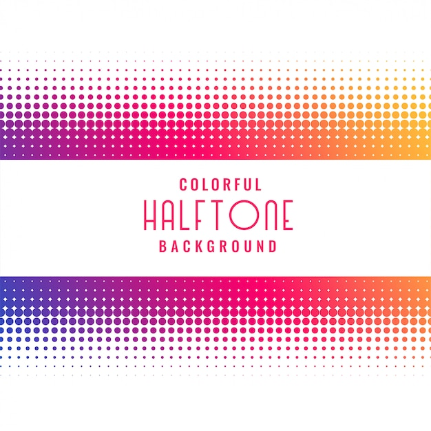 Vibrant halftone pattern design background Free Vector