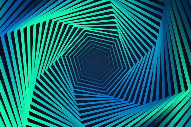 Vibrant illusion effect background Free Vector