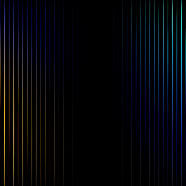 Vibrant lines on black background vector Free Vector
