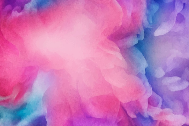 Vibrant watercolor painting background Free Vector