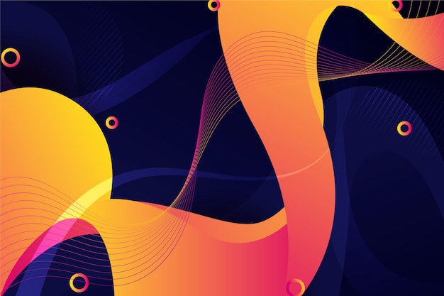 Vibrant wave abstract background Free Vector